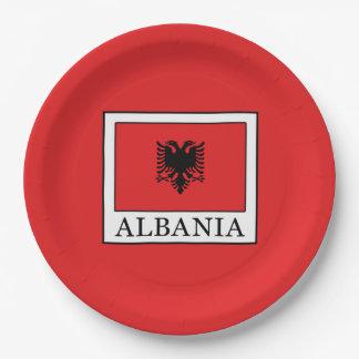 Albania 9 Inch Paper Plate