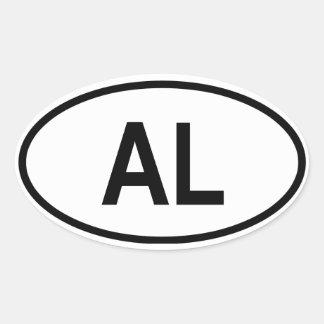 """Albania """"AL"""" Oval Sticker"""