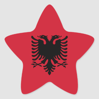 Albania/Albani/Albanian Flag Star Sticker
