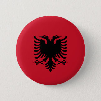 Albania - Albanian Flag 6 Cm Round Badge