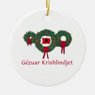 Albania Christmas 2 Christmas Ornament