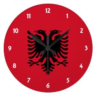 albania round wallclock