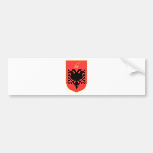 Albania Coat of Arms Bumper Stickers