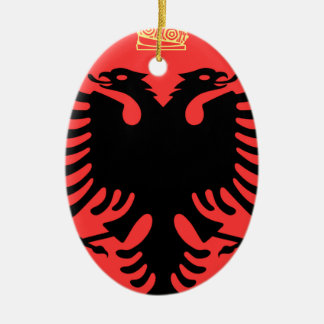 Albania Coat of Arms Ceramic Oval Decoration