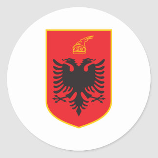 Albania Coat Of Arms Classic Round Sticker
