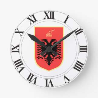 Albania Coat of Arms Clocks