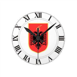 Albania Coat of Arms Clocks