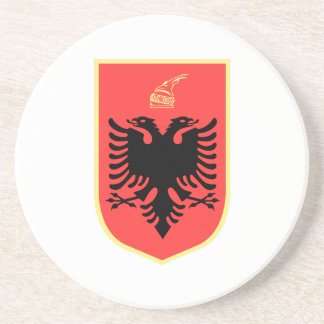 Albania Coat of Arms Beverage Coaster