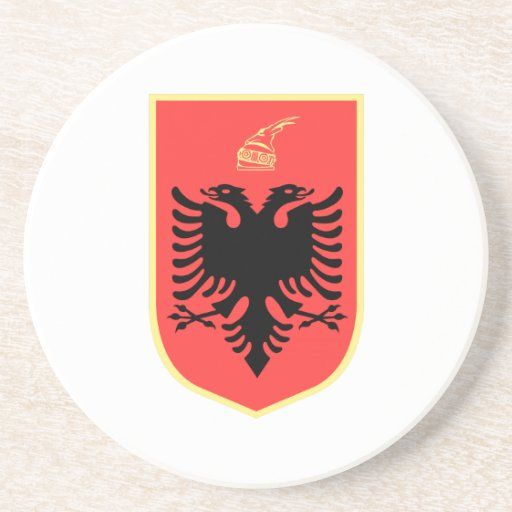Albania Coat of Arms Beverage Coaster