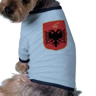 Albania Coat of Arms Dog Tee Shirt