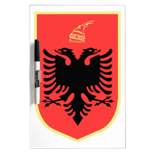 Albania Coat of Arms Dry Erase Board