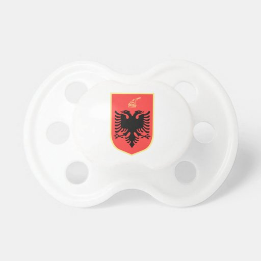 Albania Coat of Arms Pacifier