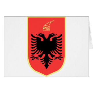 Albania Coat of Arms Greeting Card
