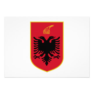Albania Coat of Arms Custom Invitation
