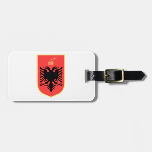 Albania Coat of Arms Bag Tag