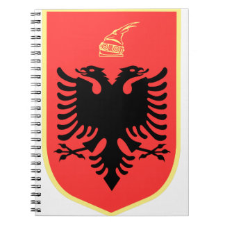Albania Coat of Arms Spiral Notebook
