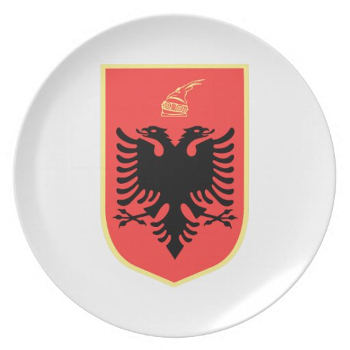 Albania Coat of Arms Party Plate