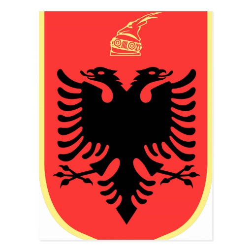Albania Coat of Arms Post Card