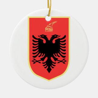 Albania Coat of Arms Round Ceramic Decoration