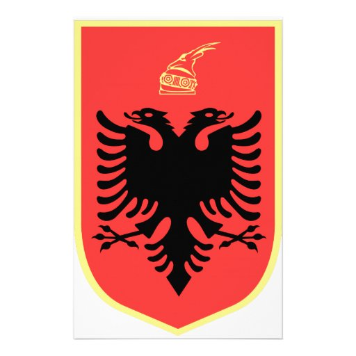 Albania Coat of Arms Stationery