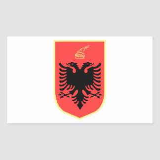 Albania Coat of Arms Rectangular Sticker