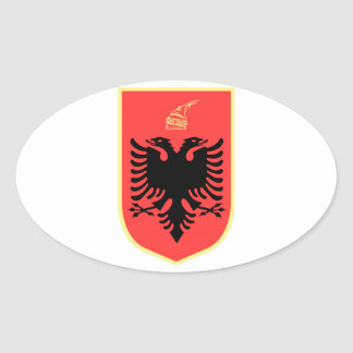 Albania Coat of Arms Oval Stickers