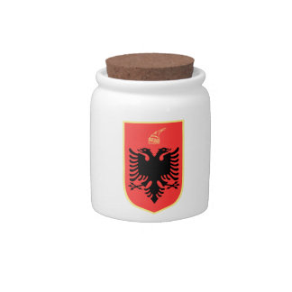 Albania Coat of Arms Candy Jars