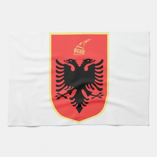 Albania Coat of Arms Hand Towels