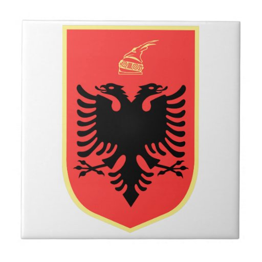 Albania Coat of Arms Tiles