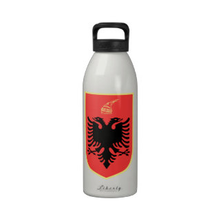 Albania Coat of Arms Water Bottles