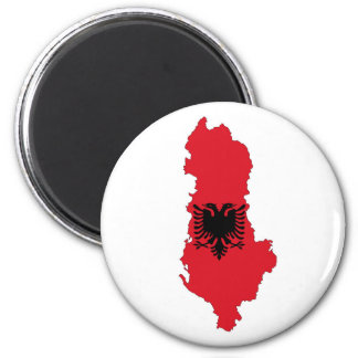 albania country flag map shape symbol silhouette magnet