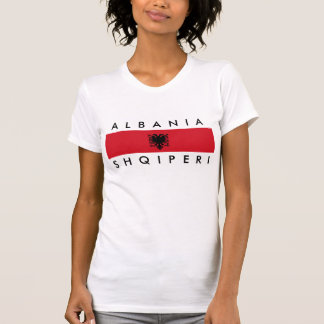 albania country long flag nation symbol name T-Shirt