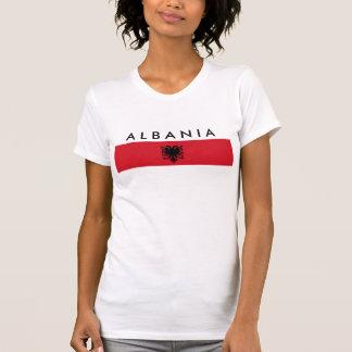 albania country long flag nation symbol name text T-Shirt
