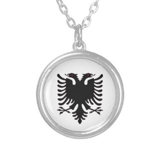 Albania Double Headed Eagle Silver Necklace