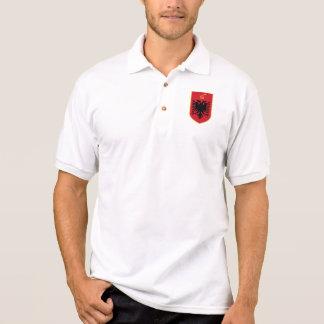 albania emblem polo t-shirt