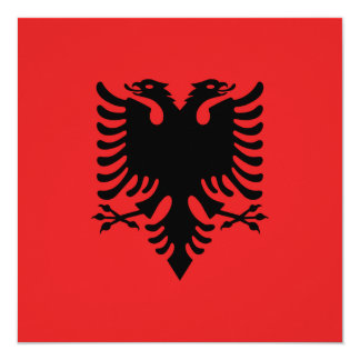 Albania Flag 13 Cm X 13 Cm Square Invitation Card