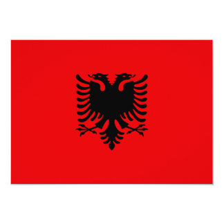 Albania Flag 13 Cm X 18 Cm Invitation Card