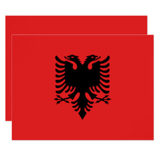 Albania Flag 17 Cm X 22 Cm Invitation Card