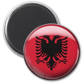 Albania Flag 6 Cm Round Magnet