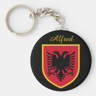 Albania Flag Basic Round Button Key Ring