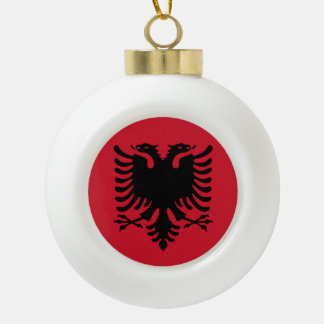 Albania Flag Ceramic Ball Christmas Ornament