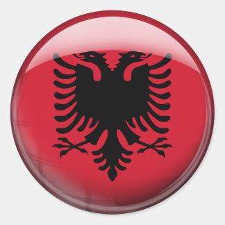Albania Flag Classic Round Sticker