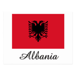 Albania Flag Design Post Cards