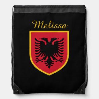 Albania Flag Drawstring Bag