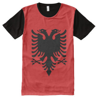 Albania Flag full All-Over Print T-Shirt