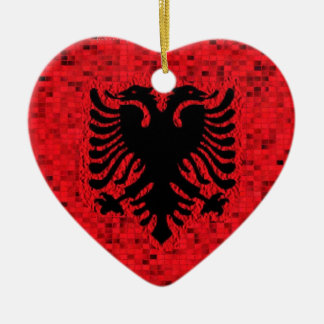 Albania Flag glitter ornament