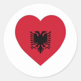 Albania Flag Heart Classic Round Sticker