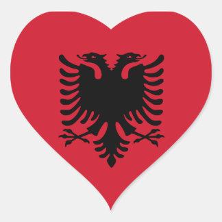 Albania Flag Heart Sticker