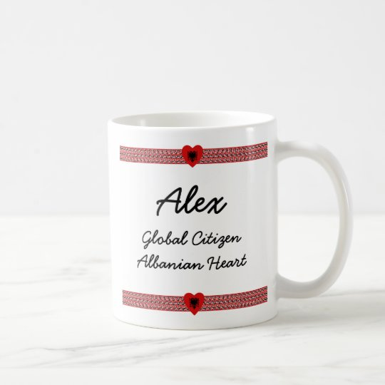 Albania Flag-hearts Map Customisable Mug