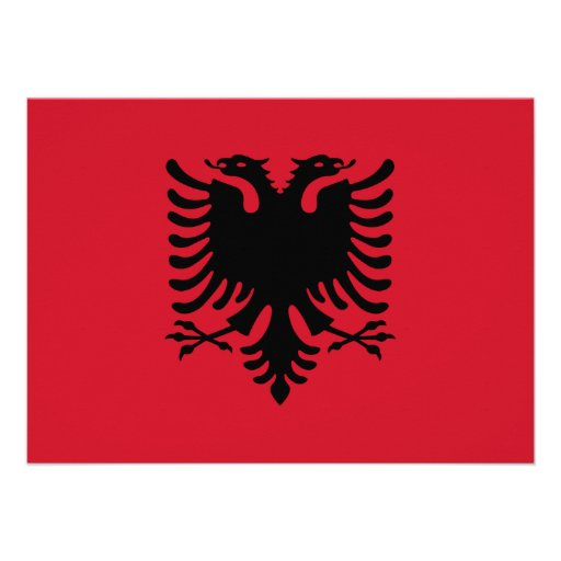 Albania Flag Invitation